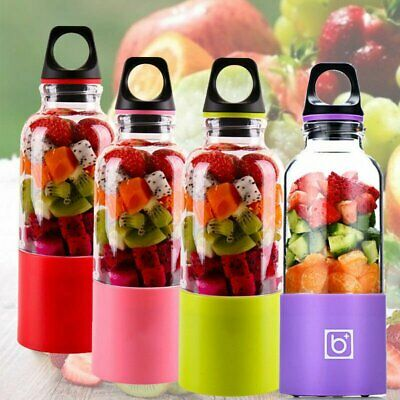500ML Portable Rechargeable USB Charging Electric Mini Juicer Cup Juice Blender