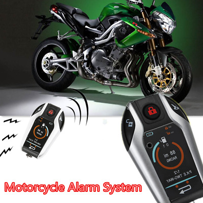 Two Way Motorcycle Alarm Anti-theft Security System Scooter Remote Engine Start