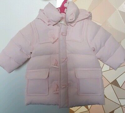 Baby Girls 3-6M United Colours of Benetton Thick Warm Winter Padded Coat Pink