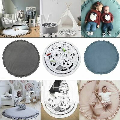 Newborn Infant Round Lace Blanket Baby Play Mats Soft Cotton Crawling Carpet