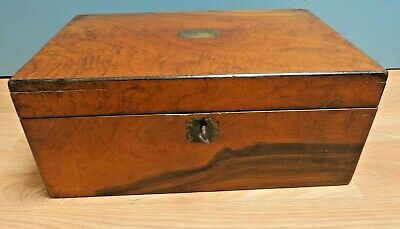 Antique Wooden Writing Slope - Lockable, With Key