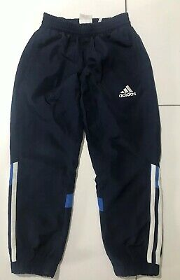 Adidas Boys Girls Navy Blue Tracksuit Bottoms Trousers Sport Active 5-6 Years