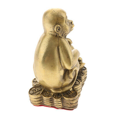 Chinese Feng Shui Money Lucky Zodiac Animal Figurines Monkey Statue Figurine