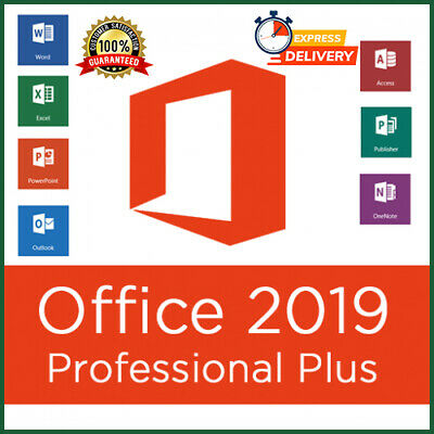Microsoft Office 2019 Pro Professional Plus License Key 1 PC 60 Secs Delivery 🔥