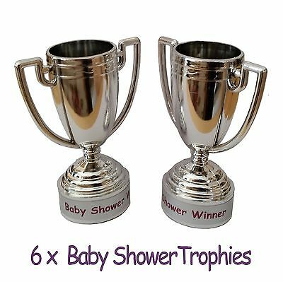 Baby Shower Party Games - 6 Baby Shower Trophies - GAME PRIZE