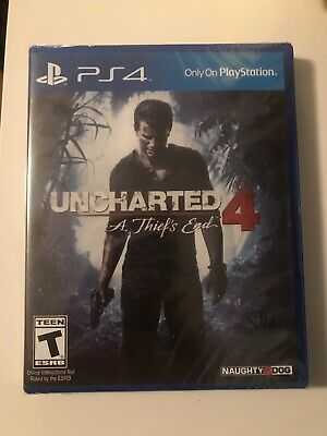 Playstation 4 Ps4 Video Game Uncharted 4: A Theif's End Brand New And Sealed