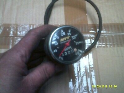 nos classic moped speedo clock nvt new with cable