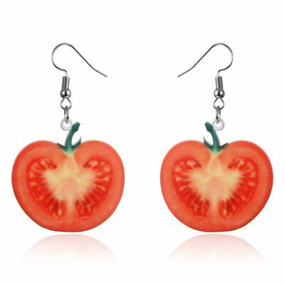 New Women Fashion Cute Fruit Tomato  Drop Dangle Hook Earrings Jewellery Gift