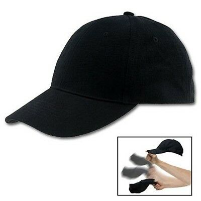 Black Self Defense Baseball Hat Cap Low Profile Weighted Style Impact Tool