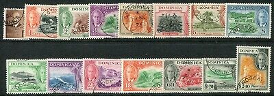 Dominica KGVI 1951 ½c-$2.40 SG 120-134 used (cat. £95)