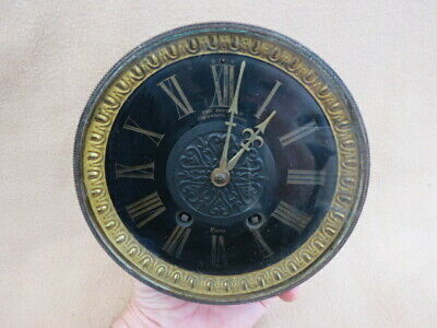 Large Antique French 1/4 Ting Tang Strike Ad Mougin Clock Movement, Dial, Hands,