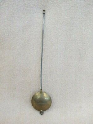 Large Antique French Brass And Steel Clock Pendulum