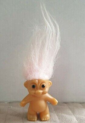 VINTAGE COLLECTIBLE~ RUSS TROLL ~PINK HAIR (1980s?)