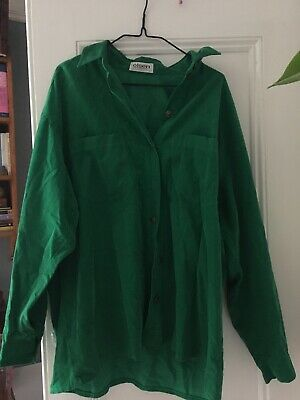 Vintage Green Corduroy Shirt Oversize Cord