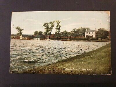 Vintage Powells Pool Sutton Park Sutton Coldfield Postcard