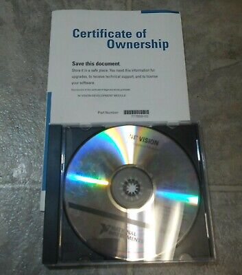 National Instruments 777859-03 Vision Development Module 7.0 For Labview Cd 2003