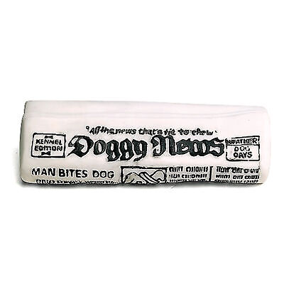 Ethical Pet Spot Newspaper 6.5 inch   Vinyl Squeaker Toy for Dogs