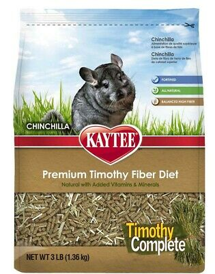 Kaytee Products Food Timothy Complete Chinchilla Lower Protein Calcium 3 lbs