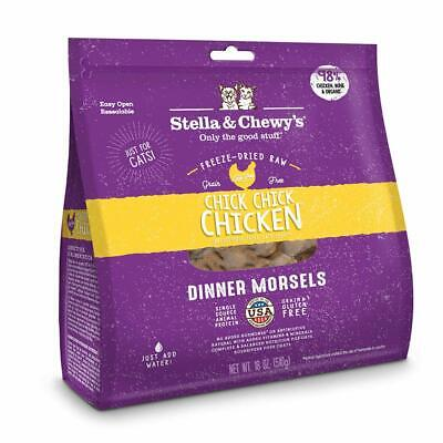 Stella and Chewy's Freeze-Dried Raw Chicken Dinner Morsels for Cats 18 ounce