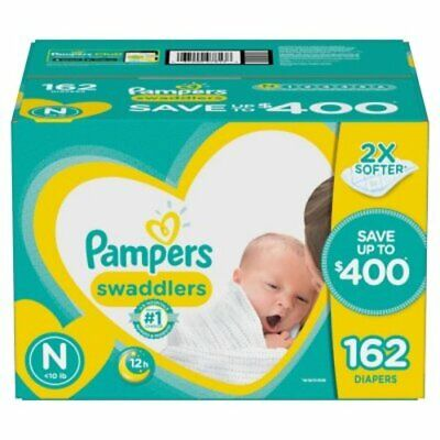 Pampers swaddlers Diapers, Newborn Size 1 2 3 4 5 6 - PICK ANY SIZE & QUANTITY