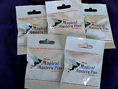 Disney * MAGICAL MYSTERY PINS - SERIES #11 * 5 PACKS * NEW Mystery Pack Pins