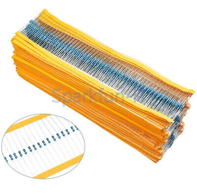 NEW 400/600PCS 30 Values 1/4W 1% Metal Film Resistors Resistance Assortment Kit