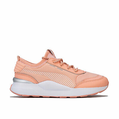 Children Girls Puma Rs O Winter Toys Trainers In Peach- Lace Fastening-