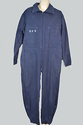 "Vintage Indigo NEO Coveralls Jumpsuit Boilersuit Overalls All In One 46"" Chest"