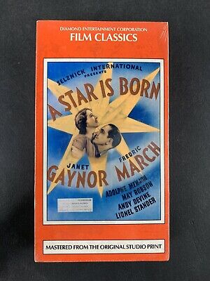 A Star is Born VHS Brand New Factory Sealed Janet Gaynor Fredric March 1937 1993