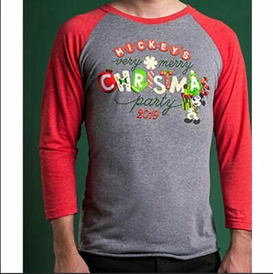 Disney Parks 2019 Mickey's Very Merry Christmas Party Shirt Adult Size Large NWT