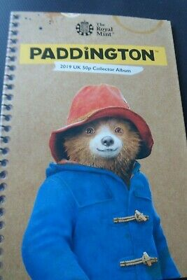 Paddington Bear 2019 50p COLLECTORS ALBUM WITH COINS Tower & St Pauls  BRAND NEW