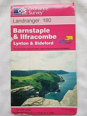 Ordnance Survey - Landranger 180 Barnstaple & Ilfracombe, Lynton Sheet map 1999