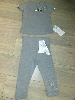 Stunning Little Darlings  Grey 2 Piece Set Leggings + Top Age 2 Yrs Bnwt £70