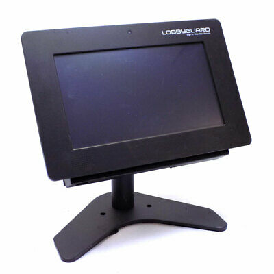 Pitney Bowes LobbyGuard Scout Visitor Managment Kiosk w/ DL/Barcode Scanner