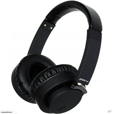 Groove  Fusion Wireless Bluetooth or Wired Stereo Headphones GVBT400BK - Black