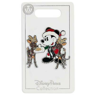 Disney Parks 2019 Santa Mickey Feeding Reindeer Christmas Holiday Pin NEW