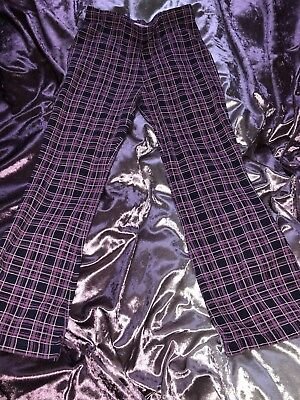 Kids Children Girls Next Purple Checked Trousers 6 Years