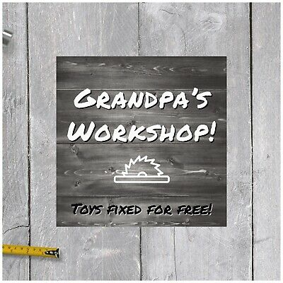 Rustic Wood Sign Personalized Workshop Man Cave Sign Gift Idea for Him
