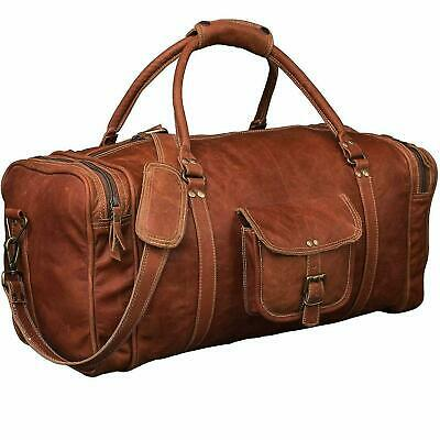Leather Genuine Bag Travel Men Duffle Luggage Weekend Overnight Love To Carry