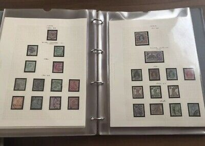 British Commonwealth Used Stamp Collection Album 400 Stamps 1873 – 1974 Bulk Job