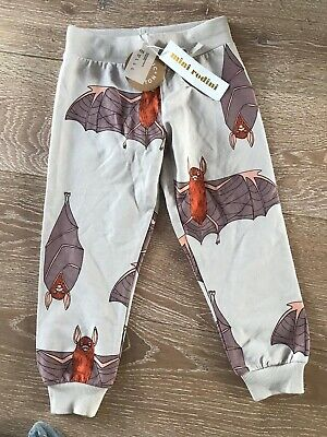 Bnwt Mini Rodini Bat Bottoms 92/98 Trousers