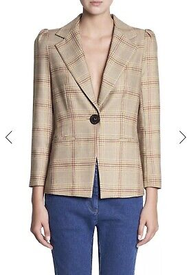Manning Cartell Well Plaid Blazer Size 8 RRP$649.
