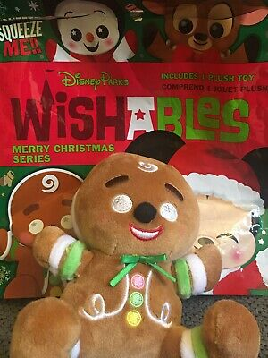 """Disney Parks Wishables Mystery Plush Merry Christmas Series New """"Gingerbread"""""""