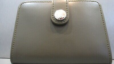 NWOT FURLA Slim Leather Note Pad Address Book Wallet