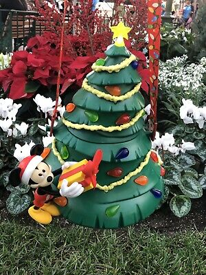 NEW Disney Mickey Light Up Holiday Christmas Tree Popcorn Bucket 2019 IN HAND