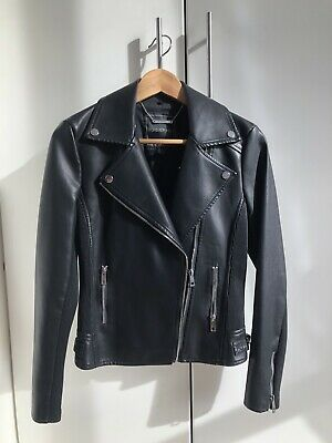 Forever New Faux Leather Jacket Size 8