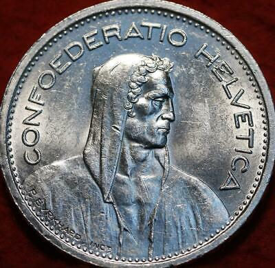 Uncirculated 1948-B Switzerland 5 Francs Silver Foreign Coin