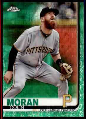 2019 Topps Chrome Colin Moran Green 34/99 Pittsburgh Pirates #65 Refractor
