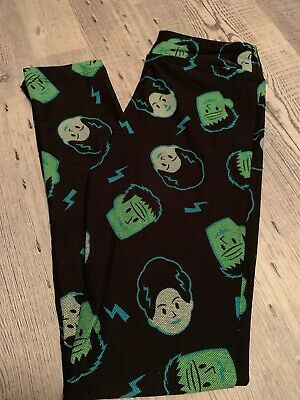 LuLaRoe kids Black Frankenstein NWT New leggings Halloween 2019 Xlarge L/XL