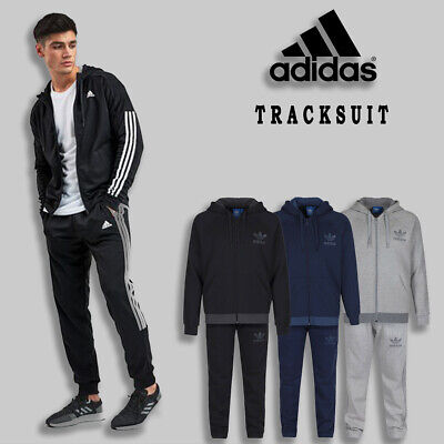 Adidas Mens Firebird Full Tracksuit Pants Zipper Bottom Jogginf Running Gyming